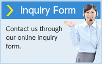 Inquiry Form Contact us through our online inquiry form.